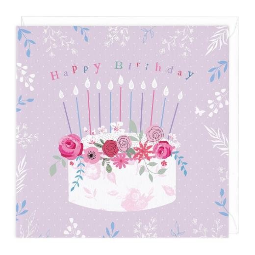 Awe Inspiring Floral Cake Birthday Card Aa8752 Foxy Lots Funny Birthday Cards Online Fluifree Goldxyz
